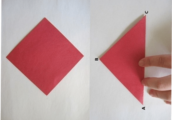 Fold the flower from the paper with your own hands