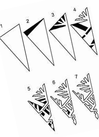 1 template for cutting out paper snowflakes