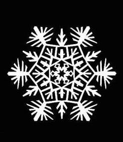 1 шаблон для вырезания снежинок из бумаги
