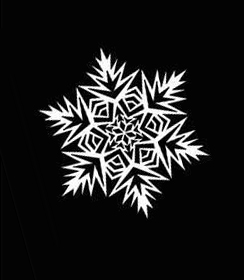 2 шаблон для вырезания снежинок из бумаги