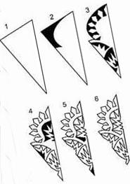 3 шаблон для вырезания снежинок из бумаги