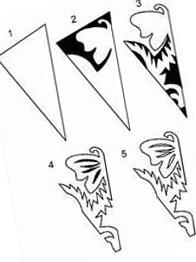 4 шаблон для вырезания снежинок из бумаги
