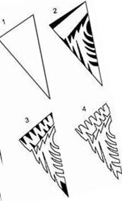 5 шаблон для вырезания снежинок из бумаги