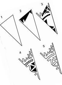 6 шаблон для вырезания снежинок из бумаги