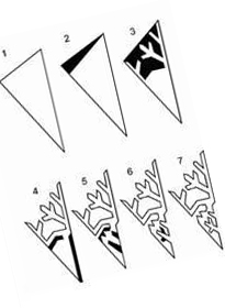 7 Pattern for cutting snowflakes from paper