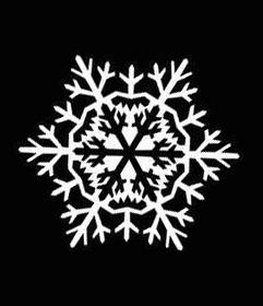7 шаблон для вырезания снежинок из бумаги