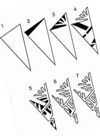 8 template for cutting snowflakes from paper