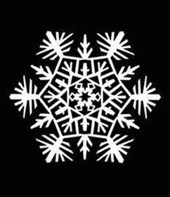 8 шаблон для вырезания снежинок из бумаги