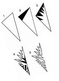 9 шаблон для вырезания снежинок из бумаги