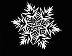 Snowflakes from the paper hand made