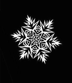 9 Pattern for cutting snowflakes from paper