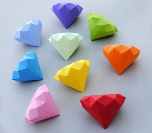 алмазы брилианты из бумаги своими руками