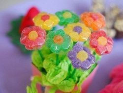 Bouquet of flowers from marmalade