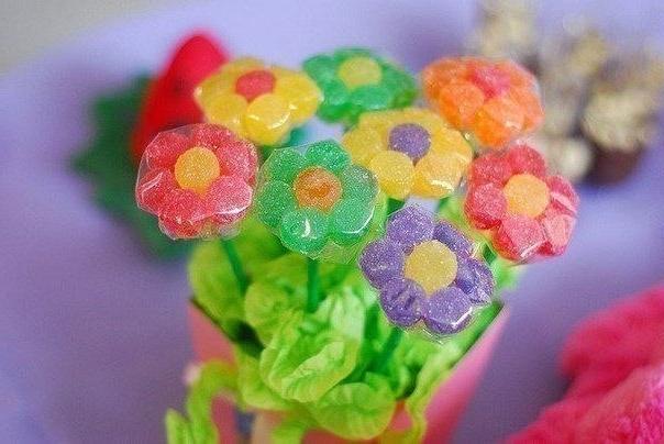 букет цветов из мармелада своими руками