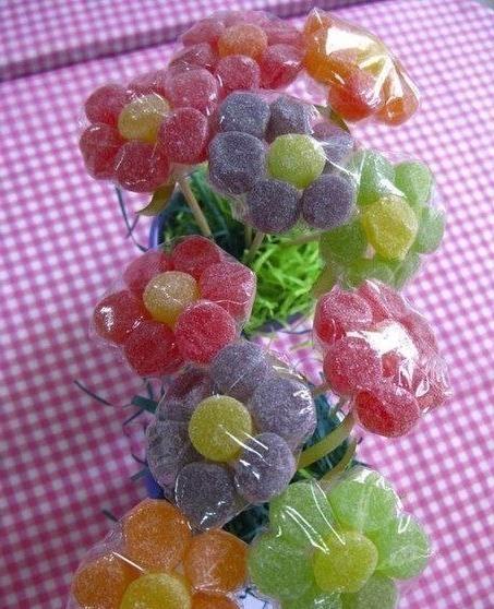 букет цветов из мармелада