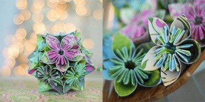 Original paper flowers with their own hands