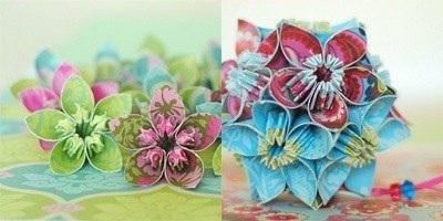 Paper flowers hand made