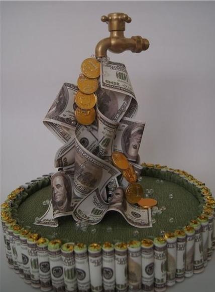 кран из денег своими руками