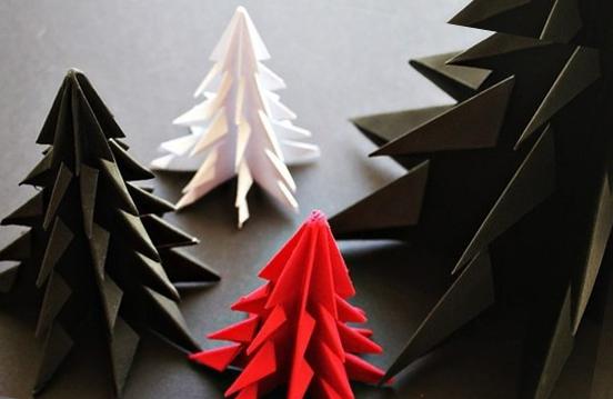 """оригами """"елка"""" из бумаги своими руками"""