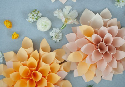 Dahlias from paper