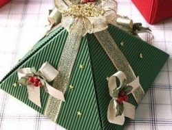 "Gift wrapping ""Pyramid"" hand made"