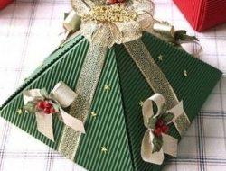 подарочная упаковка пирамидка из бумаги своими руками