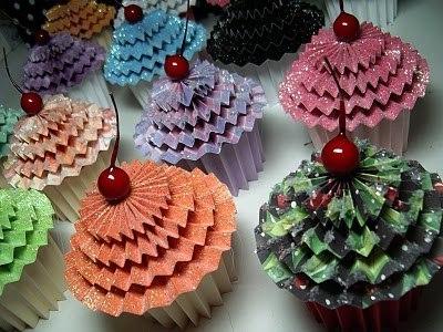 Paper cupcake hand made