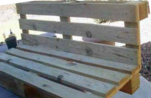 Finished Bench of pallets