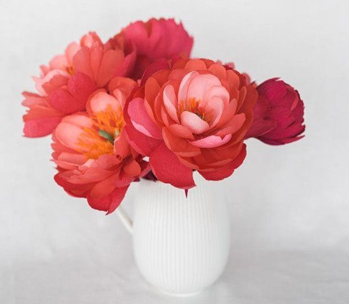 Peonies from paper with own hands
