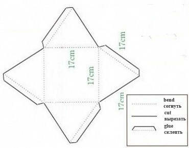 шаблон для пирамиды из бумаги
