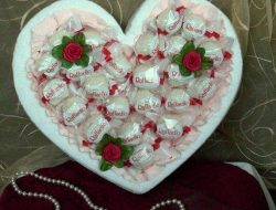 Heart from candy hand made