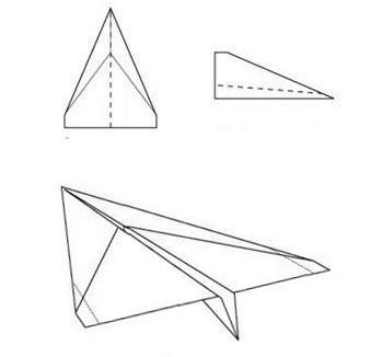 создание самолетика из бумаги 2 вариант