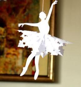 снежинка балерина из бумаги хенд мейд