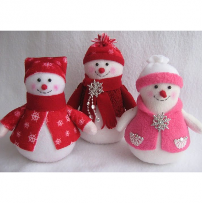 Snowman from fabric