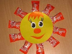 "Children's crafts from sweets ""Sunshine"""