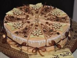 торт сюрприз с пожеланиями из бумаги
