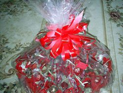 Gift from sweets in the form of heart