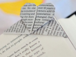 "Origami bookmark ""The heart"""