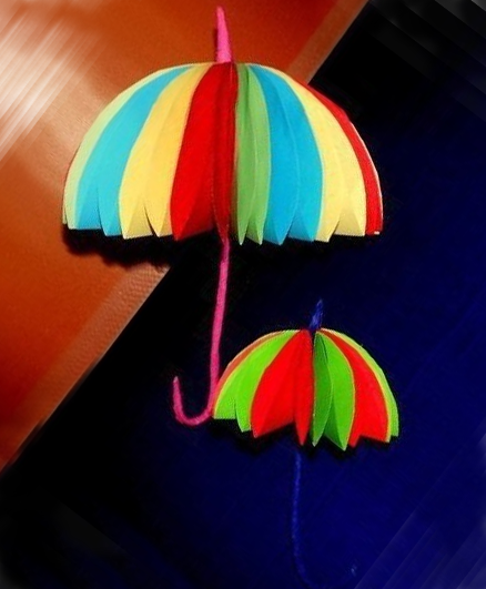 Оригинальный зонтик из бумаги