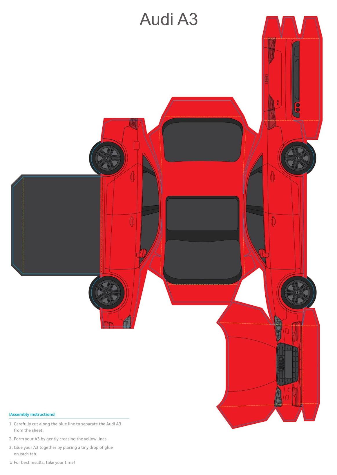 бумажная модель Audi A3