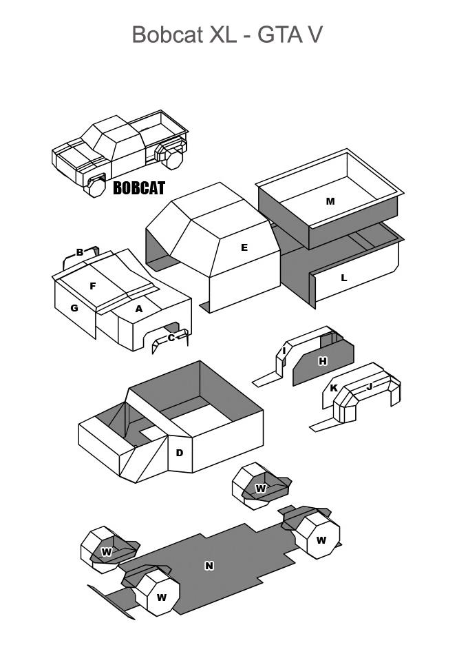 Bobcat XL модель из бумаги