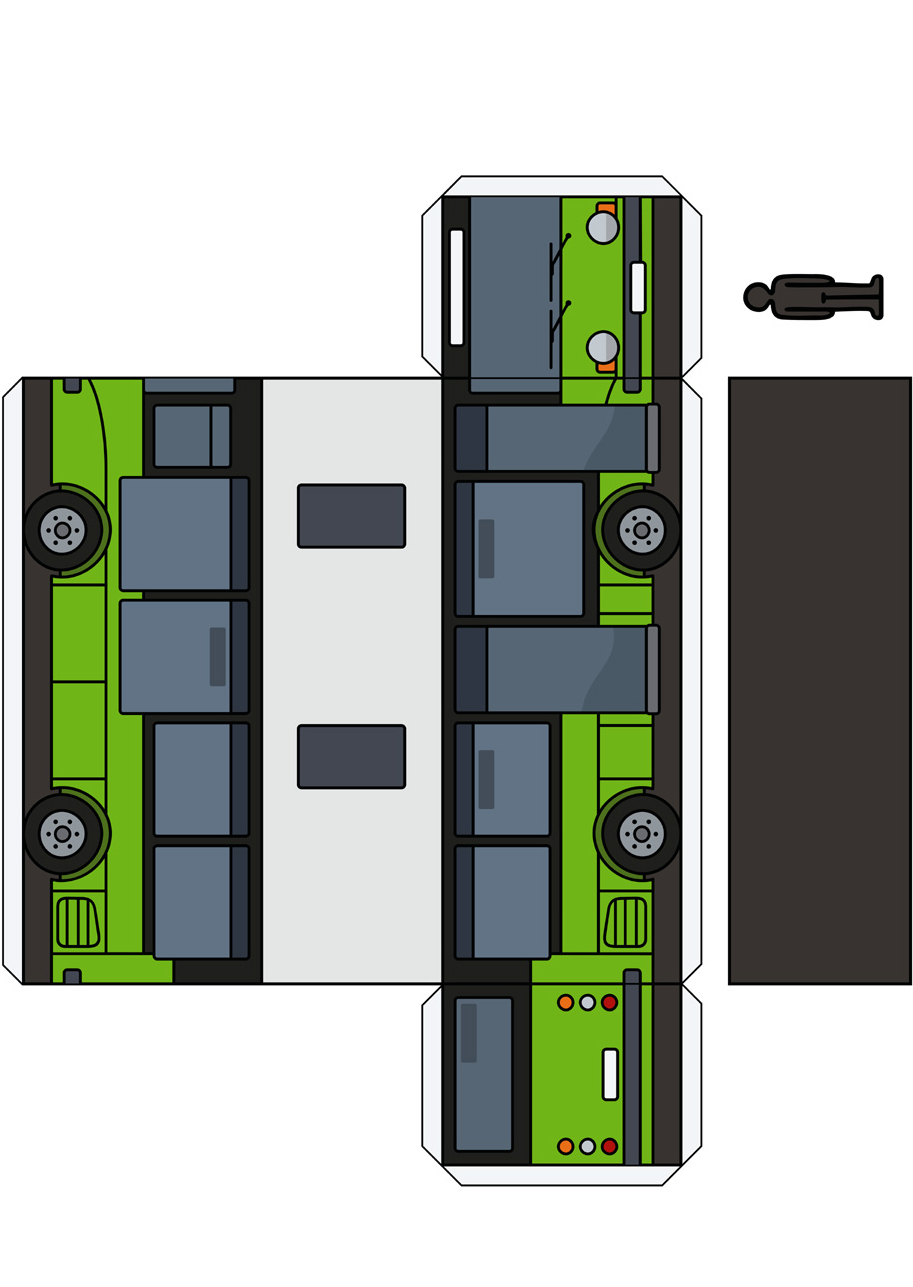 Paper buses (printing template)