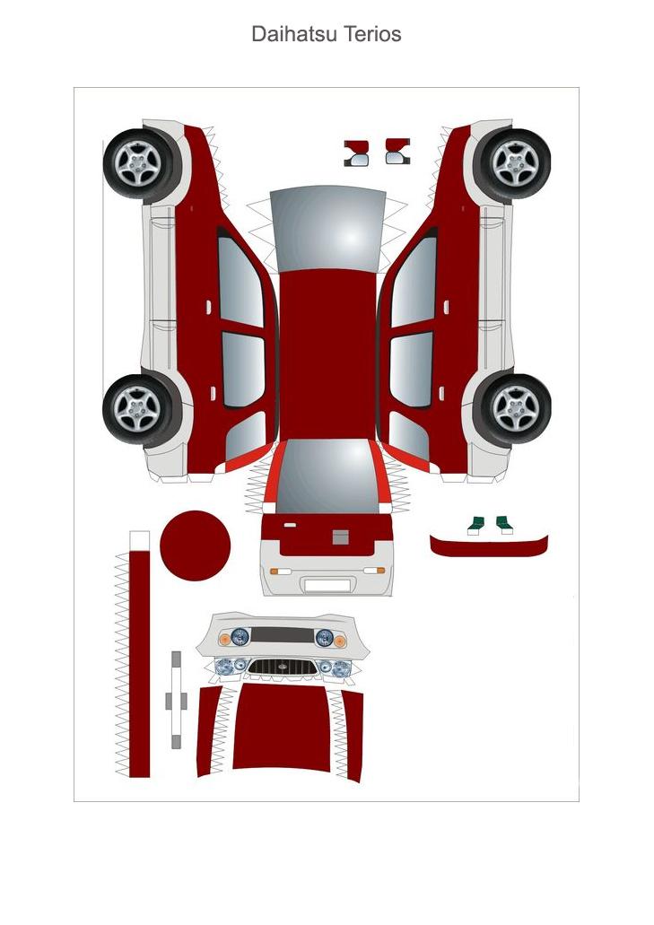 бумажная модель Daihatsu Terios