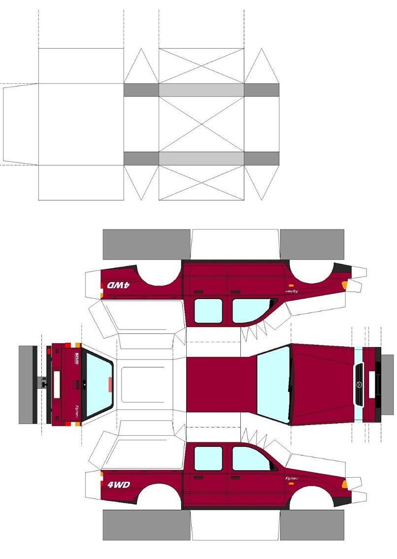Mazda B-Fighter макет для печати