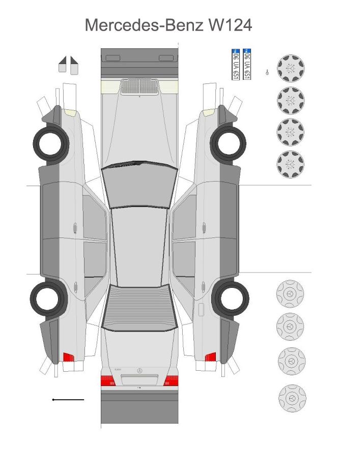 бумажная модель Mercedes-Benz W124