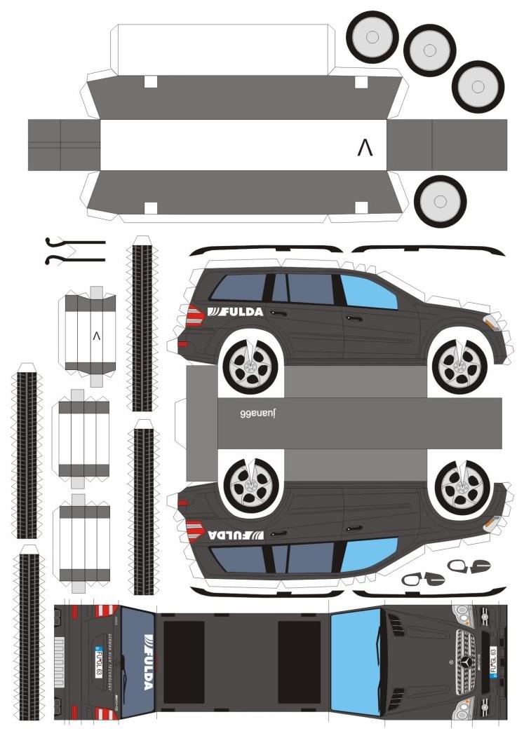 Модель из бумаги Mercedes Benz