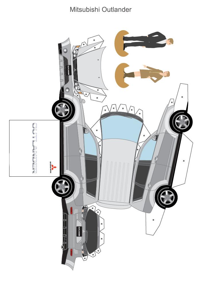 Развертка схема Mitsubishi Outlander