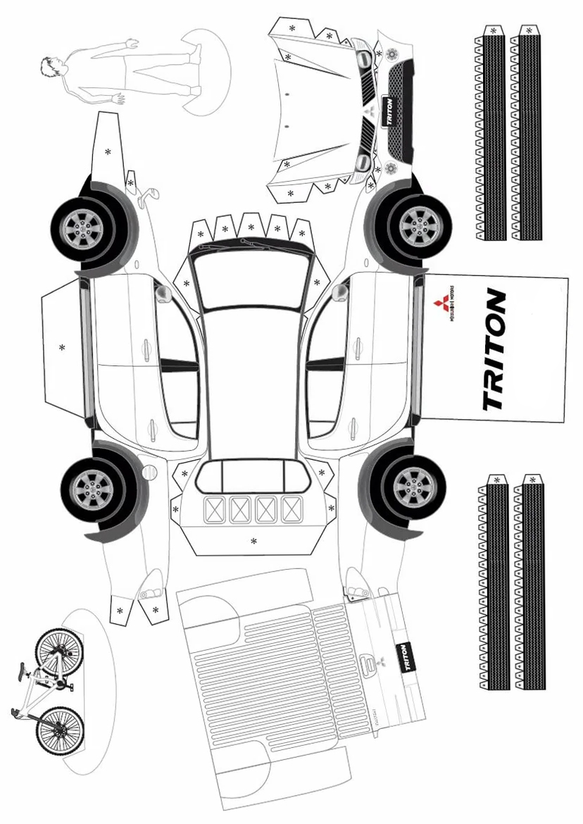printout of Mitsubishi Triton with your own hands