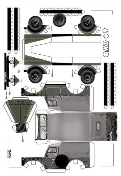 ГАЗ-69 из бумаги