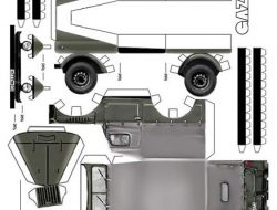 trucks from paper